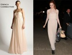 In Karen Gillan's Closet - French Connection 'Shelbys' Pleated Strapless Maxi Dress