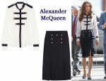 In Catherine, Duchess of Cambridge's Closet - Alexander McQueen Blouse & Skirt