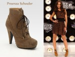 In Katie Holmes' Closet - Proenza Schouler Suede Snub-Nose Ankle Boots
