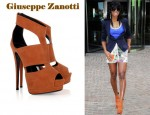 In Kelly Rowland's Closet - Giuseppe Zanotti Cut-Out Suede Sandals