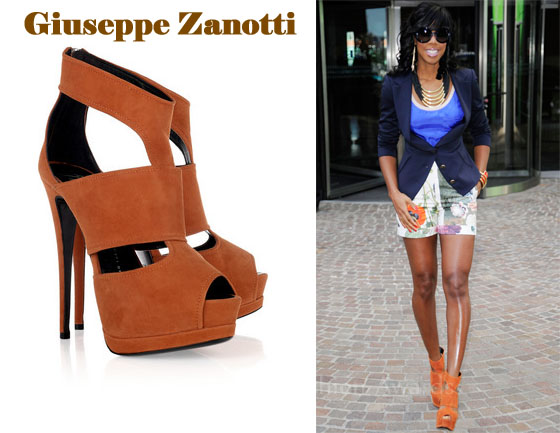 83a1ff80973a In Kelly Rowland s Closet – Giuseppe Zanotti Cut-Out Suede Sandals