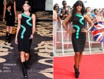 Kelly Rowland In Versace - The X Factor Press Launch