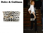 In Kylie Minogue's Closet - Dolce & Gabbana Leo Snow Print Shoulder Bag
