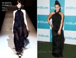 Lea Michele In Alberta Ferretti - 10th Annual InStyle Summer Soiree