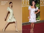 Lea Michele In Valentino - Hollywood Foreign Press Association's 2011 Installation Luncheon