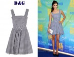 In Nina Dobrev's Closet - D&G Gingham Dress