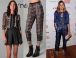In Olivia Palermo's Closet - Tibi Easy Blouse & Tibi Cobweb Lace Print Pants