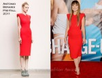 "Olivia Wilde In Antonio Berardi - ""The Change-Up"" LA Premiere"