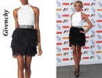 In Petra Ecclestone's Closet - Givenchy Feather Skirt Dress