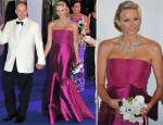 Princess Charlene Monaco In Akris - 63rd Red Cross Ball Gala