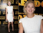 "Rosamund Pike In Alexander McQueen - ""The Devil's Double"" London Premiere"