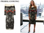 In Sarah Jessica Parker's Closet - Prabal Gurung Print-Lace Dress