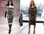 "Sarah Jessica Parker In Prabal Gurung - ""I Don't Know How She Does It"" Moscow Photocall"