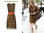 In Vera Farmiga's Closet - Bottega Veneta Lace Cummberbund Dress