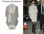 In Victoria Beckham's Closet - Victoria Beckham Cashmere-Blend Twill Sweater Dress