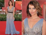 "Violante Placido In Alberta Ferretti - ""The Ides Of March"" Venice Film Festival Premiere"