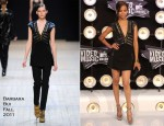 Zoe Saldana In Barbara Bui - 2011 MTV Video Music Awards