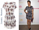 In Zoe Saldana's Closet - Isabel Marant Georgette Navajo Print Dress