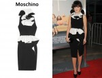 In Zooey Deschanel's Closet - Moschino Ruffled Two-Tone Crepe Dress