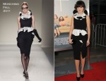 "Zooey Deschanel In Moschino - ""Our Idiot Brother"" LA Premiere"