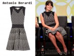 In Zooey Deschanel Closet - Antonio Berardi Fine-Knit Stretch-Jersey Dress