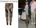 In Fergie's Closet - Elizabeth and James Nuri Animal-Print Silk Pants
