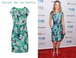 In Hilary Swank's Closet - Oscar de la Renta Floral Dress