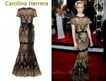 In January Jones' Closet - Carolina Herrera Gold Lace Gown