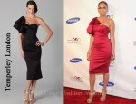 In Jennifer Lopez Closet - Temperley London One Shoulder Ruffle Dress
