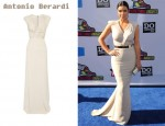 In Kim Kardashian's Closet - Antonio Berardi Crepe and Ruched Chiffon Gown