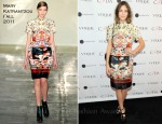 Alexa Chung In Mary Katrantzou - 2nd Annual Capsule Collection for Vogue Eyewear Launch