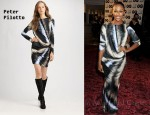 In Alexandra Burke's Closet - Peter Pilotto Long Sleeve Print Dress