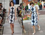 Anna Wintour In Oscar de la Renta - US Open