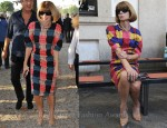 Anna Wintour Loves Her Marni 'Window Pane' Print Dress