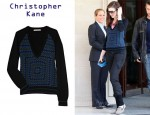 In Anne Hathaway's Closet - Christopher Kane Crocheted Cashmere Sweater