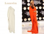 In Beyonce Knowles' Closet - Lanvin Asymmetrical Silk-Crepe Gown