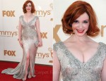 Christina Hendricks In Johanna Johnson - 2011 Emmy Awards