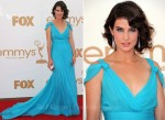 Cobie Smulders In Alberta Ferretti - 2011 Emmy Awards