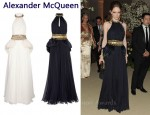 In Coco Rocha's Closet - Alexander McQueen Feathered Halterneck Chiffon Gown