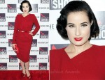 "Dita von Teese In Elie Saab - ""God Save My Shoes"" New York Premiere"