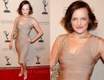 Elisabeth Moss In Herve Leger by Max Azria - The Academy Of Television Arts & Sciences' Writers Peer Group Pre-Emmy Event