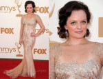 Elisabeth Moss In Marchesa - 2011 Emmy Awards
