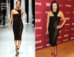 Elisabeth Moss In Versace - 2011 Entertainment Weekly And Women In Film Pre-Emmy Party