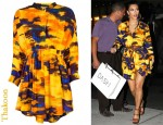In Kim Kardashian's Closet - Thakoon Gathered Waist Dress