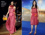 "Famke Janssen In Marc Jacobs - ""Bringing Up Bobby"" Deauville Film Festival Photocall"