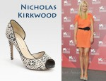 In Gwyneth Paltrow's Closet - Nicholas Kirkwood Platform Silk Peep Toe Pumps