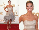 Heidi Klum In Christian Siriano - 2011 Emmy Awards