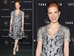 "Jessica Chastain In Carolina Herrera - ""Take Shelter"" New York Premiere"