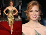 "Jessica Chastain In Vivienne Westwood - ""The Debt"" London Premiere"