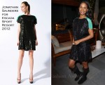 Joy Bryant In Jonathan Saunders for Escada Sport - Escada's Benefit for P.S. Arts